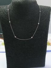 18Kt Round Cut Diamond By The Yard 8-Stone Necklace .20Ct 16""