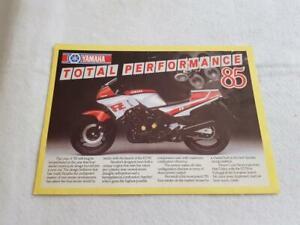 YAMAHA RANGE TOTAL PERFORMANCE Motorcycle Sales Brochure 1985 RD500LC RD350F++