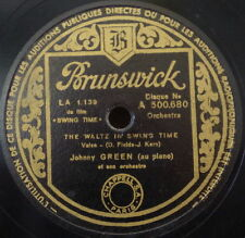 FRED ASTAIRE JOHNNY GREEN SWING TIME OST JAZZ SHELLAC 78rpm BRUNSWICK