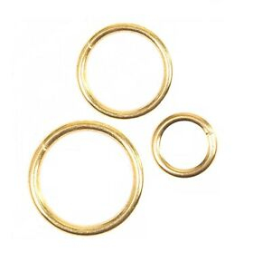 SMALL - LARGE BRASS CURTAIN RINGS Hollow Solid Metal Hook Pole Fittings