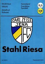 FDGB-Pokal 75/76 FC Carl Zeiss Jena - BSG Stahl Riesa, 29.11.1975