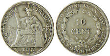 INDOCHINE   -  10  CENT  ARGENT 1885