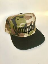 Compton Camo / Black Adjustable SnapBack Hat NWA Ice Cube Eazy-E Dr Dre Hip Hop