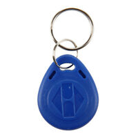 100PCS Llavero de Proximidad Programable Color Azul 125kHz RFID ID Card B1S7