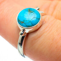 Tibetan Turquoise 925 Sterling Silver Ring Size 7 Ana Co Jewelry R28900F