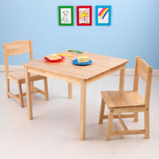 NEW KidKraft Children's Table and 2 Chairs Aspen Natural Kids Desk 21221