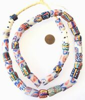 Made in Ghana mixed Ghana recycled glass African trade beads-Ghana