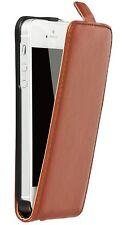 iPhone 5G 5S  Hard Case Schutz Hülle Cover Bumper Tasche Lederschutzhülle braun