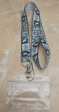 Horror Characters (Grey) Lanyard for Pin Trading inc. Waterproof Holder