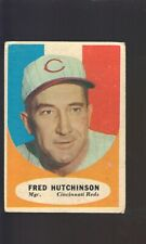 1961 TOPPS FRED HUTCHINSON  #135 FAIR REDS