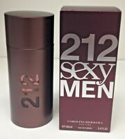 212 Sexy Men By Carolina Herrera For Men EDT Spray 3.4 oz/100 ml New Sealed Box