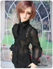 1/3 70cm bjd thin boy Doll SSDF black gothic shirt clothes outfit dollfie