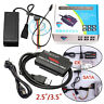 """USB 3.0 to 2.5""""/3.5"""" SATA IDE HDD Hard Drive Adapter with Power Supply UK Plug"""