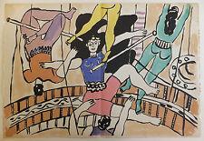 """Fernand Léger lithographie """"Le cirque"""" Circus """"Trapézistes"""" 1950"""