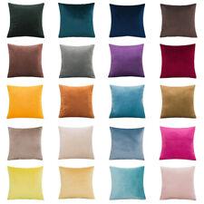Suave simple Almohadón Funda Cubierta Cojín de terciopelo liso color Sofá Decoración del hogar