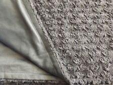 "Plush Soft Faux Fur Throw Blanket Ultraplush Gray Sherpa 50"" x 60"""