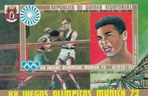 (89913) Equatorial Guinea MNH Munich Olympics Boxing minisheet