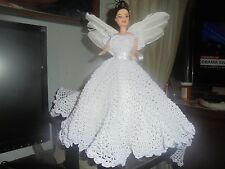 Crocheted Fashion Bed Doll (Holiday Angel)