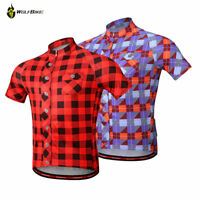 Men's Cycling Short Sleeve Jersey Mountain Bike Bicycle Shirt Breathable Summer