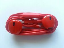 Red Cell Phone Headphones Earphones Ear Pods for SmartPhone iPhone Head Set