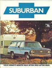 1976 Chevrolet Suburban Truck Brochure C10/C20/K10/K20