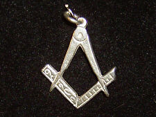 Square & Compasses charm Sterling silver 925 charmmakers