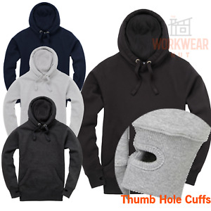 Ultra Soft Premium Men's Pullover Hoodie Soft Feel Hoody Thumb Holes on Cuff