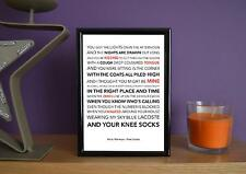 Framed - Arctic Monkeys - Knee Socks - Poster Art Print - 5x7 Inches