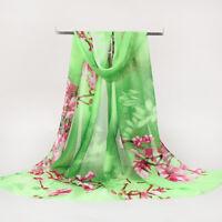 Fashion Women Ladies New Chiffon Floral Scarf Soft Wrap Long Shawl