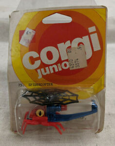 Corgi Junior Die-Cast Marvel Comics SpiderCopter - Sealed - Spider-Man - 1976