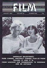 LEACOCK / PENNEBAKERMonthly Film BulletinAug1983