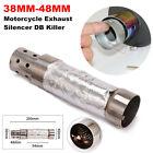 38MM-48MM Motorcycle Exhaust Silencer Baffle Insert Muffler Pipe DB Killer Steel