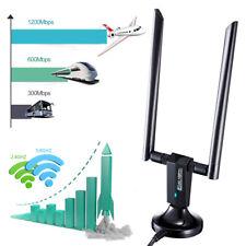 Adaptador USB WiFi Dongle 1200 Mbps Wireless Network Para Laptop Computadora de escritorio PC Antena *