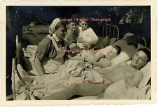 VINT Photo Young Man Men German Soldier Male Nude Physique Hospital Bed Gay Int