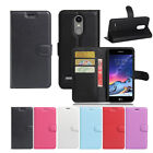 Premium Leather Wallet Case Cover for LG K4 2017 + Screen Protector