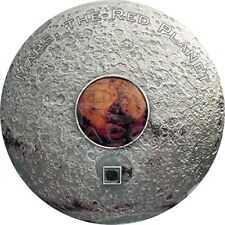 Cook Islands 2017 20$ Meteorite - Mars The red Planet 3oz Silver Coin