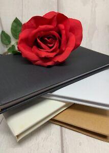 Plain DIY Guest / condolence Book for Weddings Christenings Birthday Funeral etc