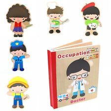 Book Puzzle for Toddlers Educational Early Learning Toys : Occupation 3