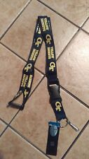 NWT NCAA GT Georgia Tech Yellow Jackets Blue Lanyard Keychain