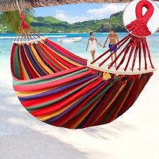 Portable Brazilian Hammock Outdoor Travel Camping Garden Patio Hanging Swing Bed