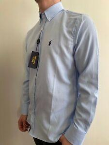 Camicia 100% Cotone  Ralph Lauren Colore Celeste Taglia XL