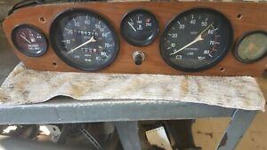 82 FIAT 124 Convertible Speedometer Instrument Cluster OEM