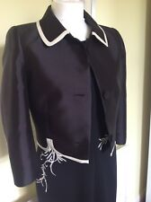 BEAUTIFUL BLACK/CREAM DRESS SUIT FROM HOBBS UK14
