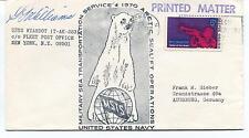 197? USNS Wyandot T-AKA92 New York Polar Antarctic Cover SIGNED