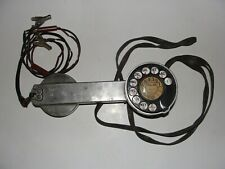 "Vintage Telephone Company Metal Rotary Dial Lineman's Test Phone ""RARE"""