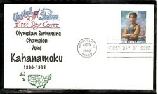 US SC # 3660 Duke Kahanamoku FDC . Cacheted 3