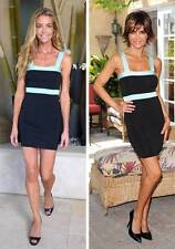 KARDASHIAN KOLLECTION MS SIZE LARGE BLACK & MINT GREEN SLEEVELESS BANDAGE DRESS