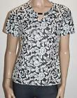 Millers Brand Black White Floral Short Sleeve Top Size 10/S BNWT #SD31