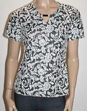 Millers Brand Black White Floral Short Sleeve Top Size 10 BNWT #SD31