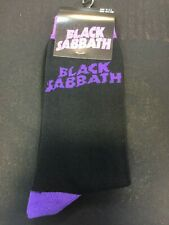 OFFICIAL LICENSED - BLACK SABBATH - WAVY LOGO ANKLE SOCKS SIZE 7/11 OZZY ROCK